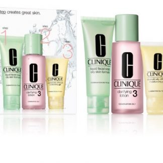 Clinique 3-Step Skincare Gift Set 50ml Liquid Facial Soap Oily Skin Formula