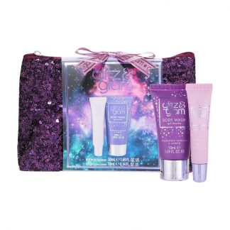 Style & Grace Glitz & Glam Galaxy Sequin Bag Gift Set contents and bag